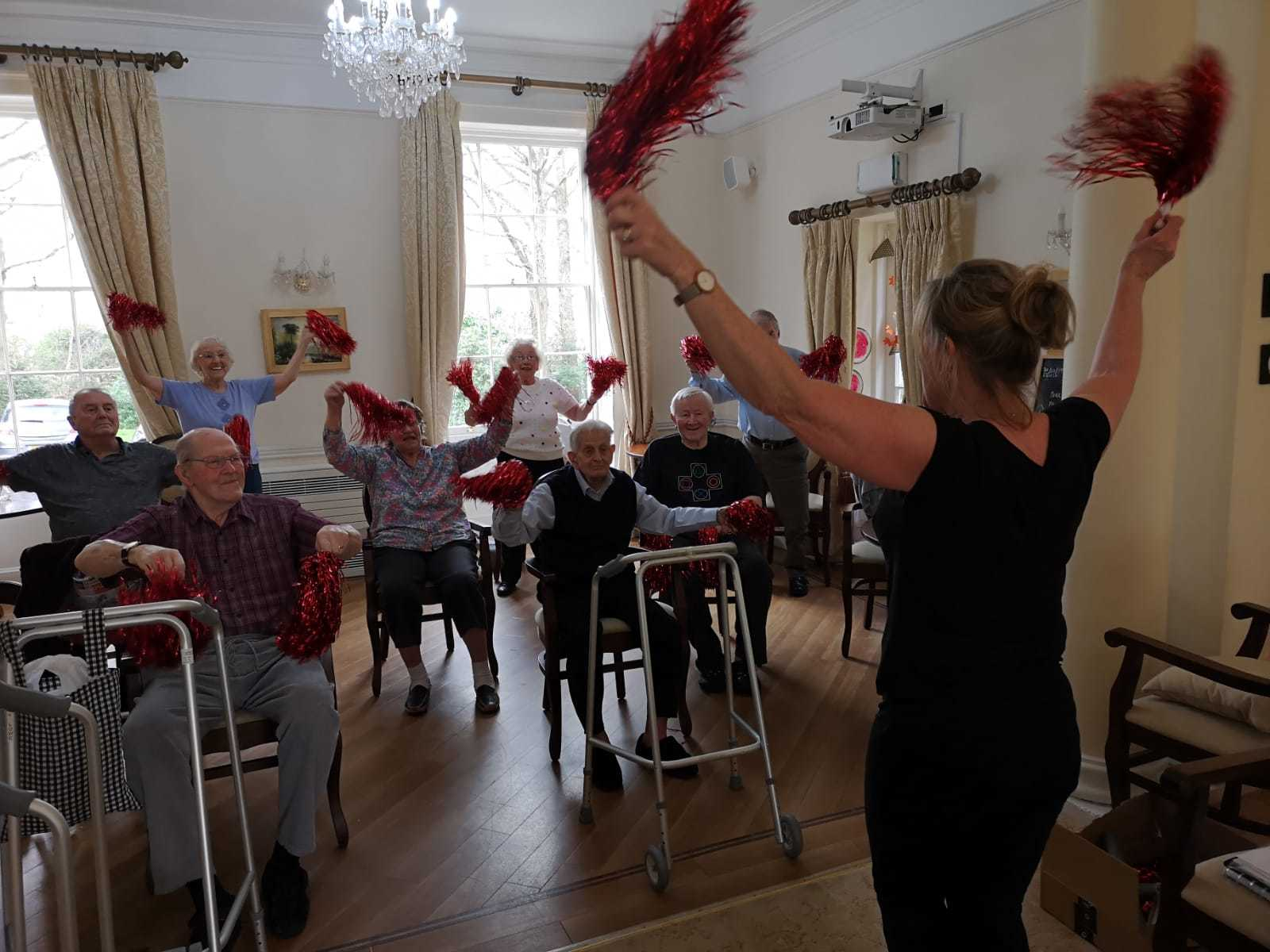Exercise class at Blackbrook House Residential Care Home