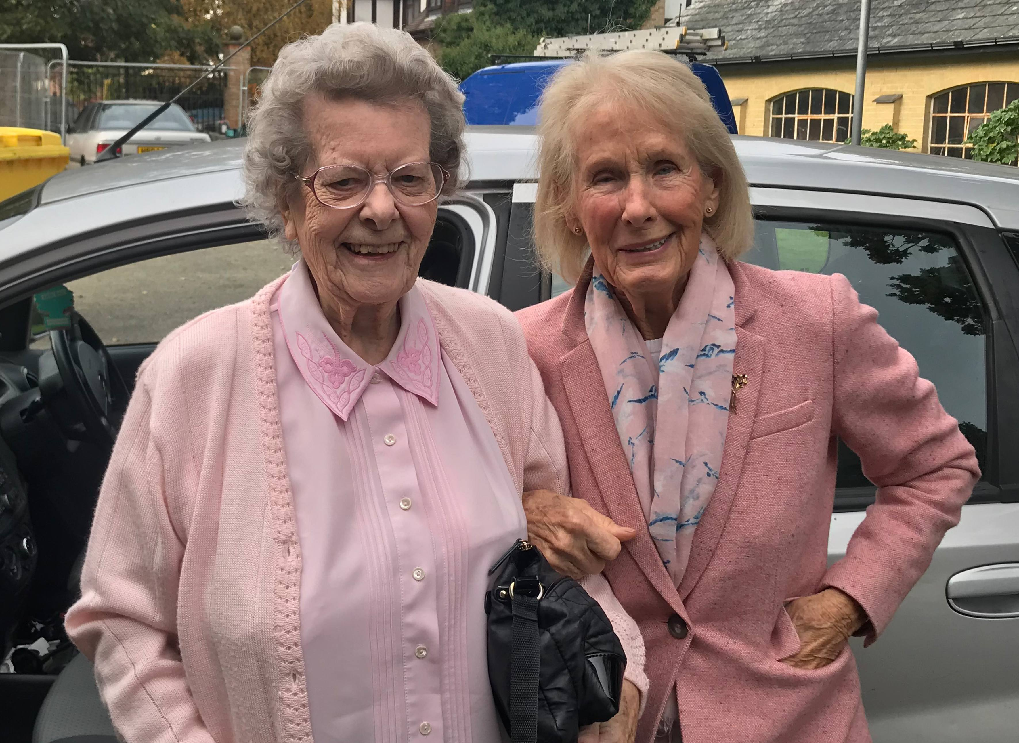 Blackbrook House resident Gwen with Pam