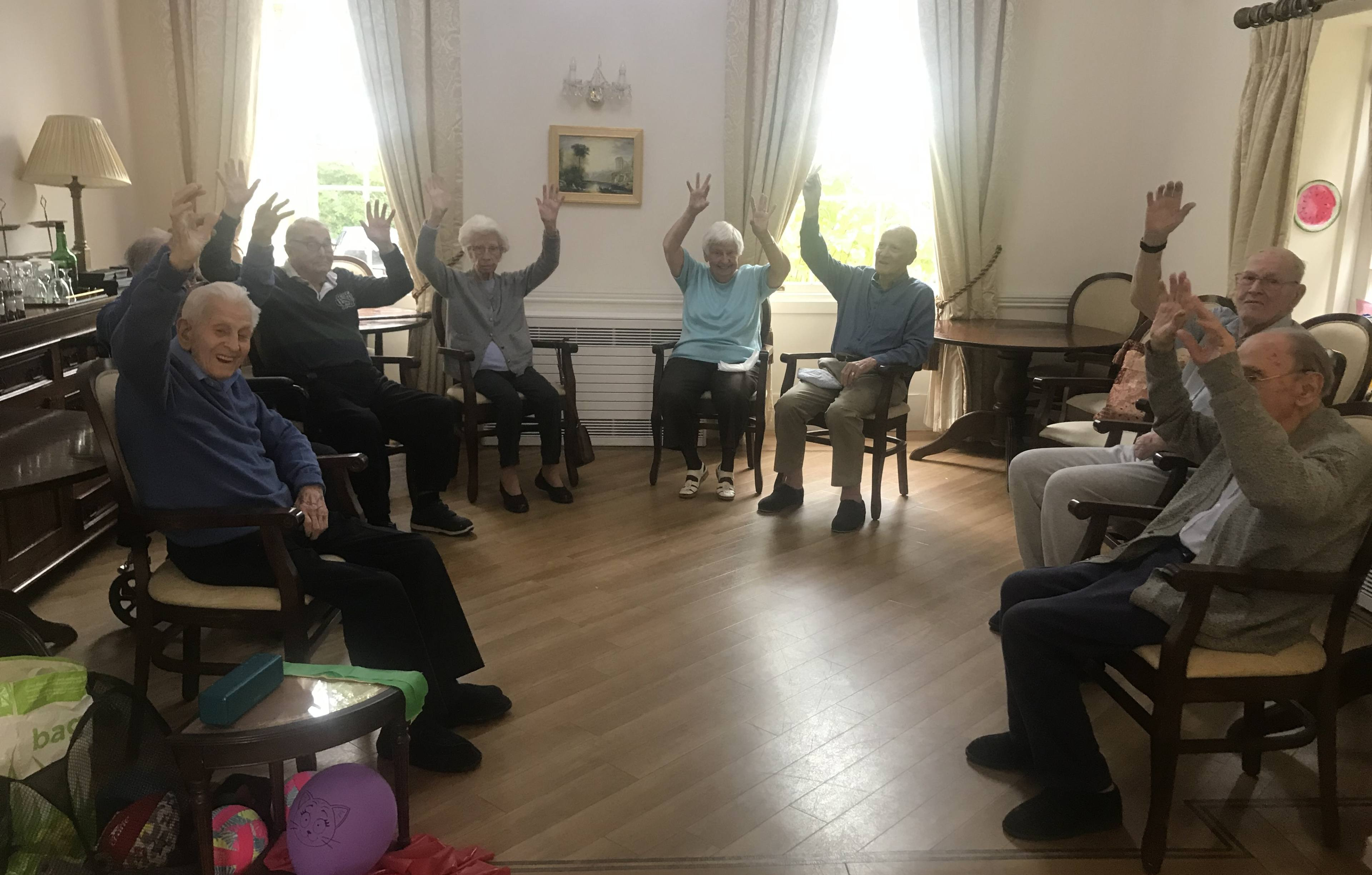 Blackbrook House residents warming up