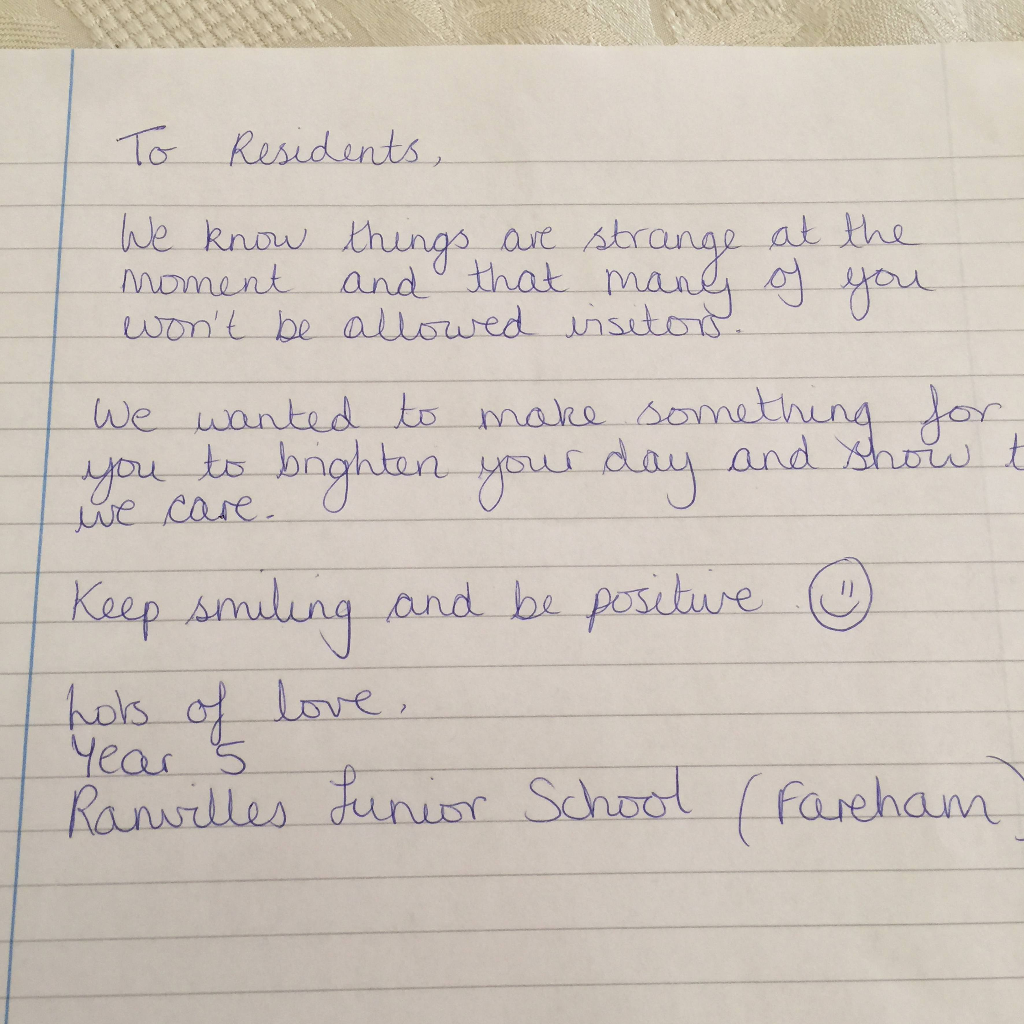Message from Ranvilles Juniors