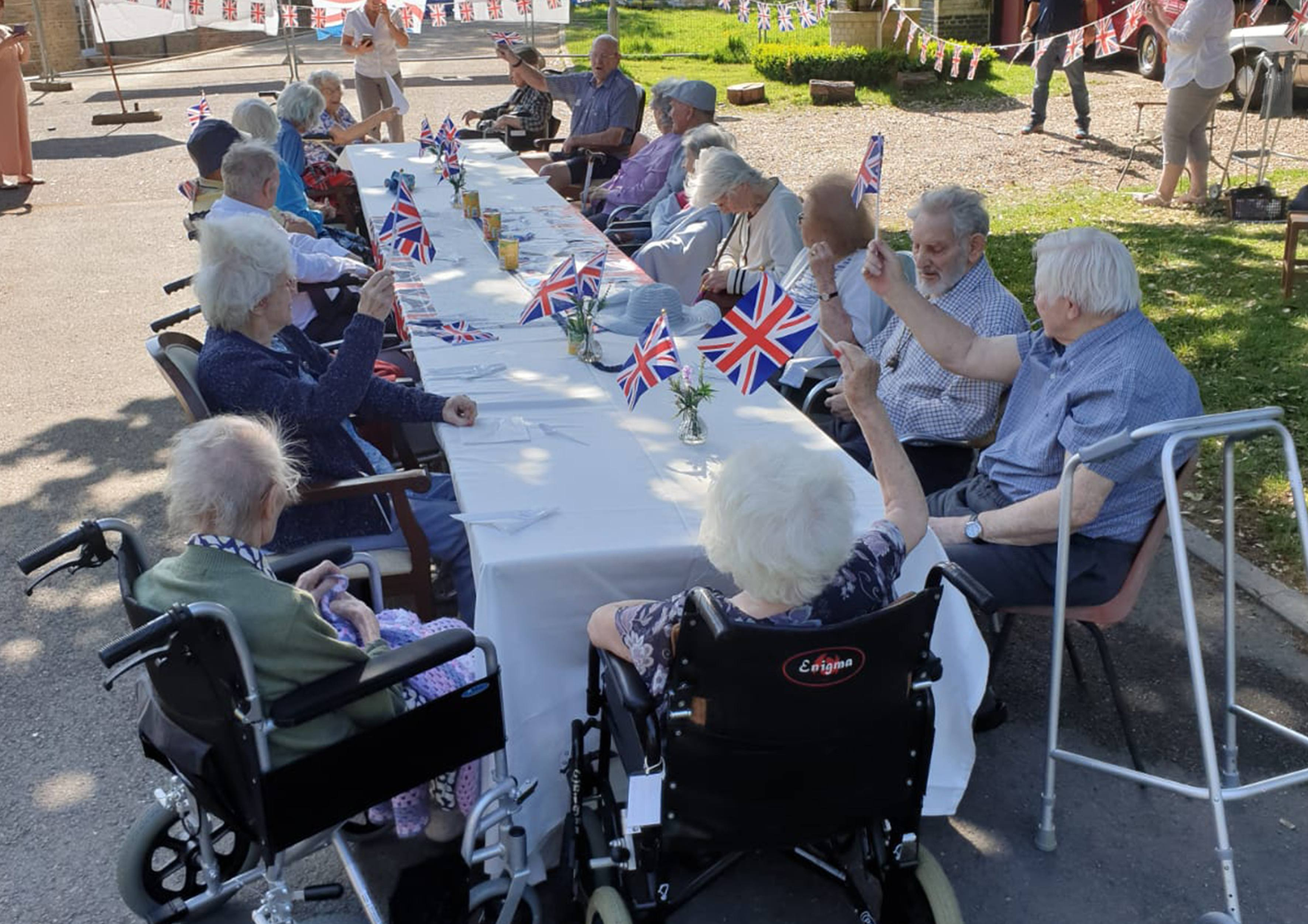 Our street party, held on the Blackbrook House driveway