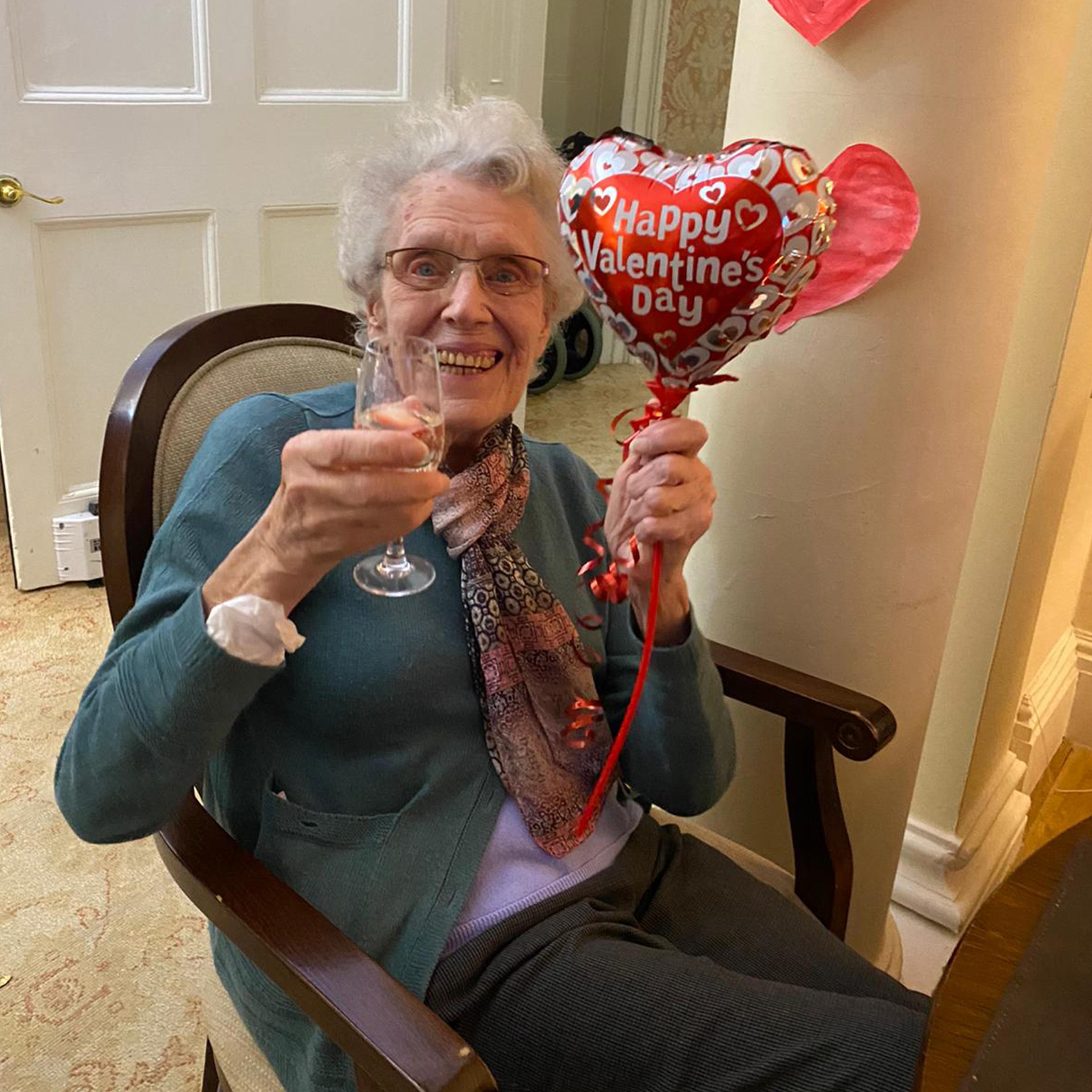 Enjoying Valentine's Day at Blackbrook House