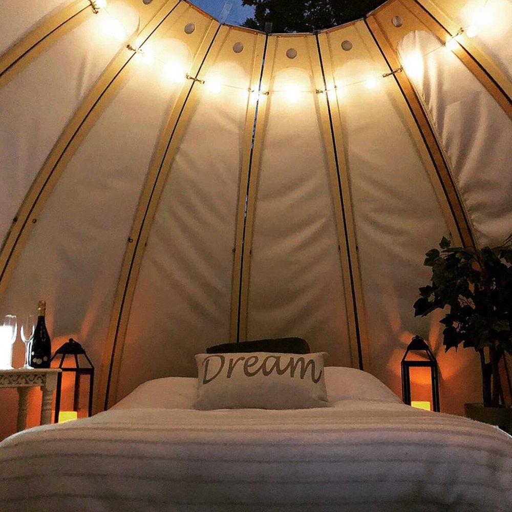 Inside Dream Dome Red Sky Festival