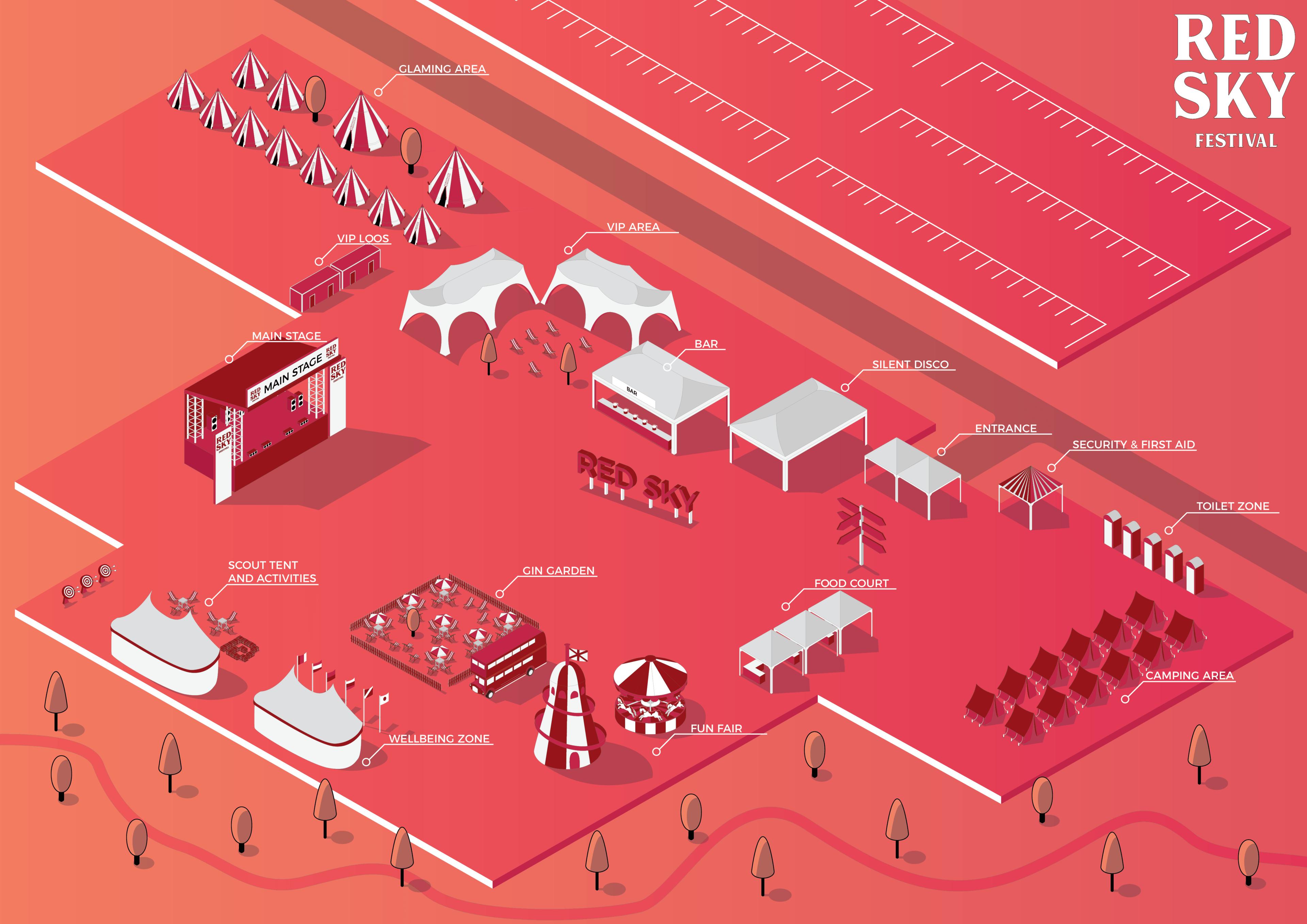 Red Sky Festival Map 2019
