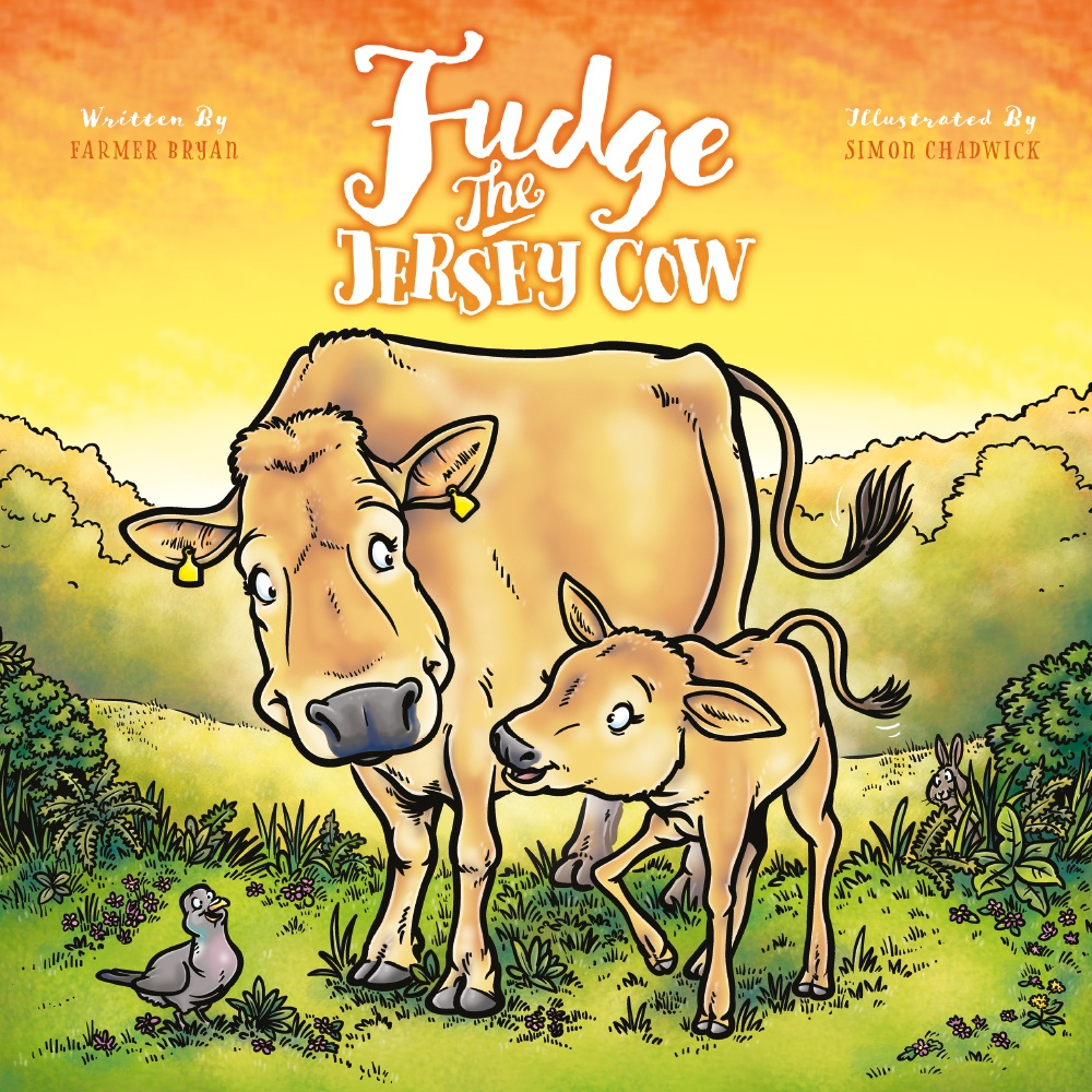 Cover for Fudge The Jersey Cow from Ceratopia Books