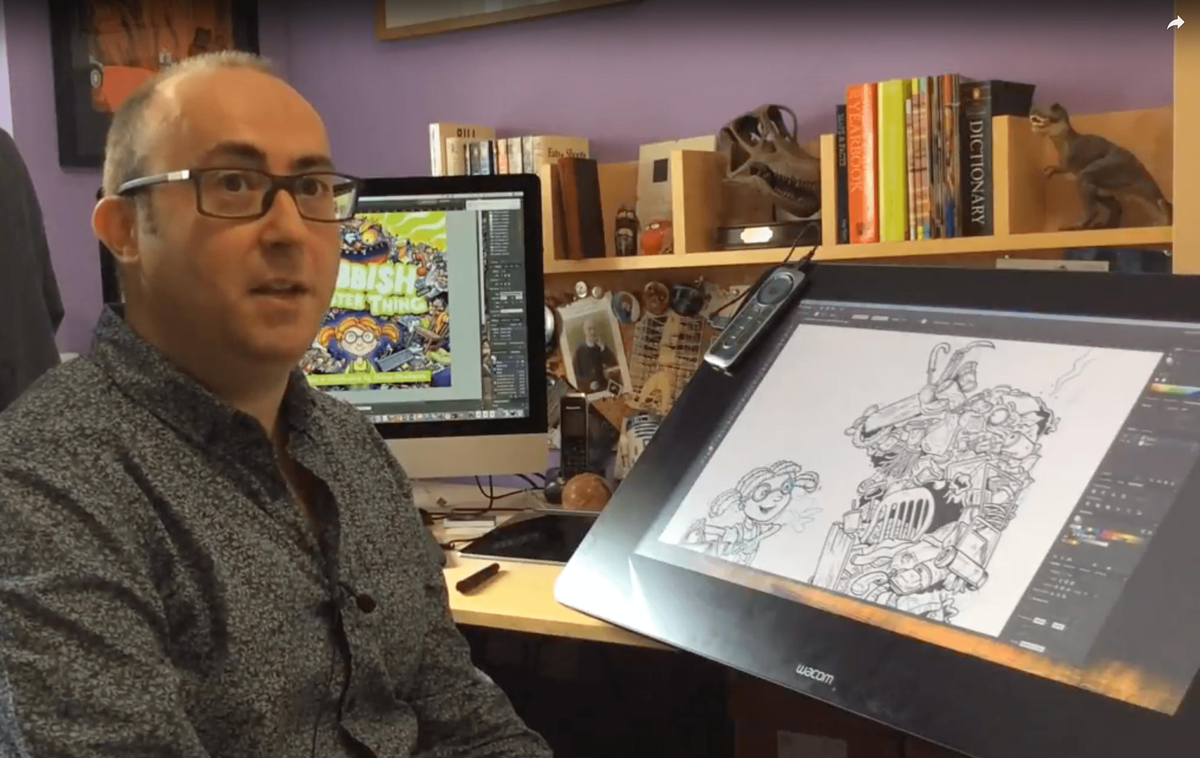 Simon Chadwick in his studio