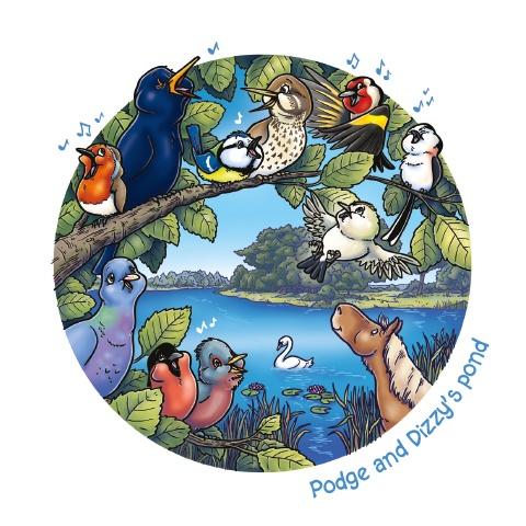 An illustration of Hatchet Pond from Podge Goes Splodge At Hatchet Pond