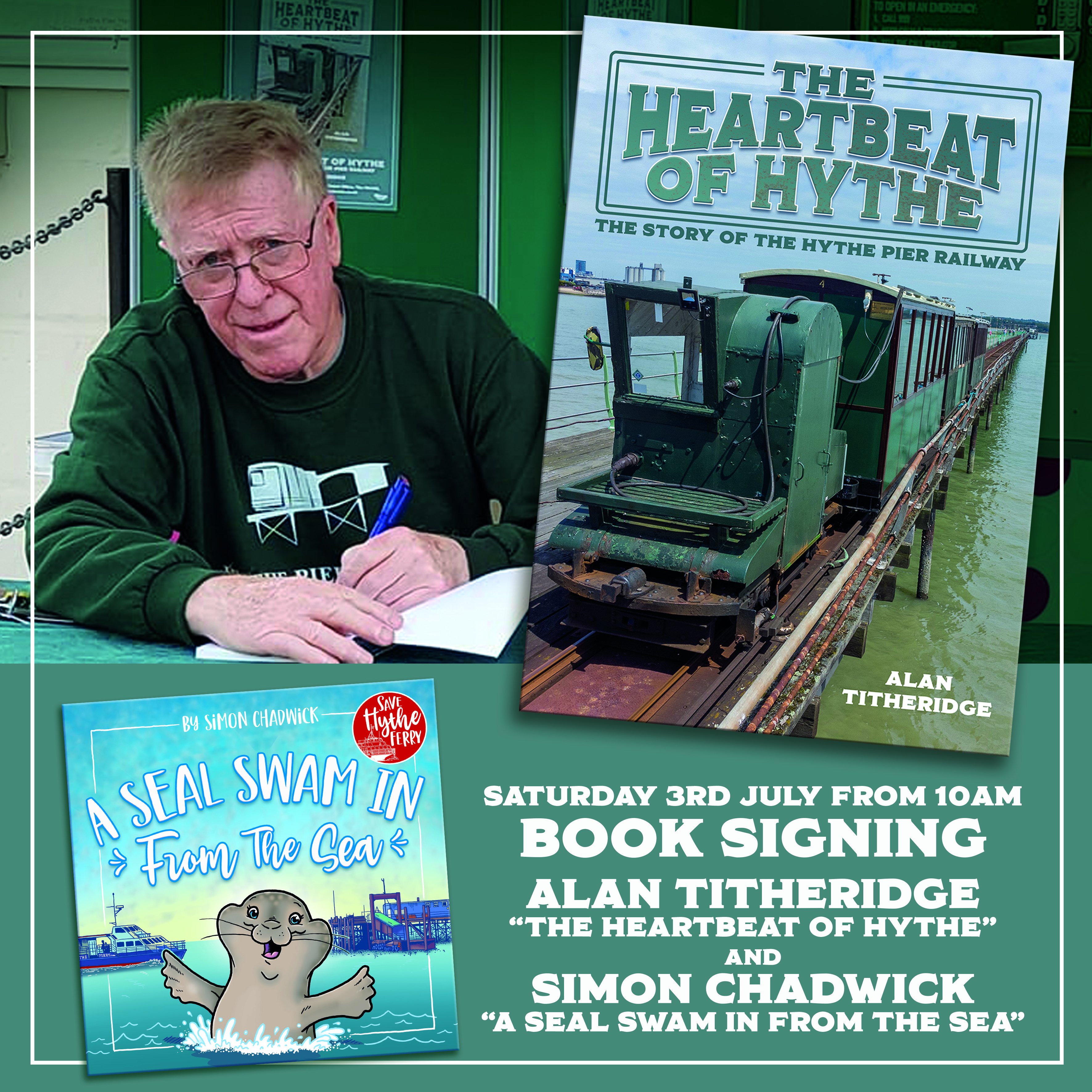 Joint Book Signing event at Hythe Pier