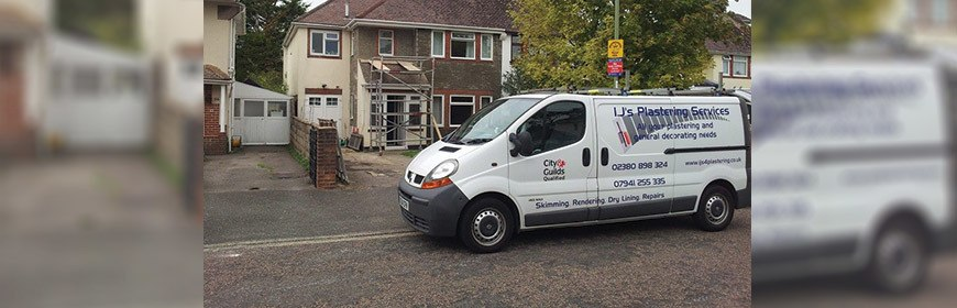 i.Js Plastering Van and House
