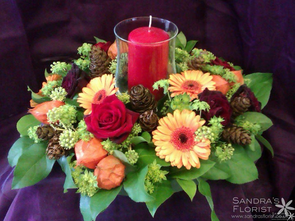 A winter floral display from Sandra's Florist