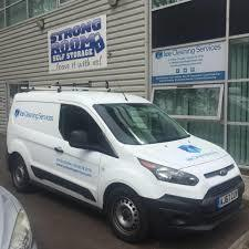Ice Cleaning Service's van outside their office