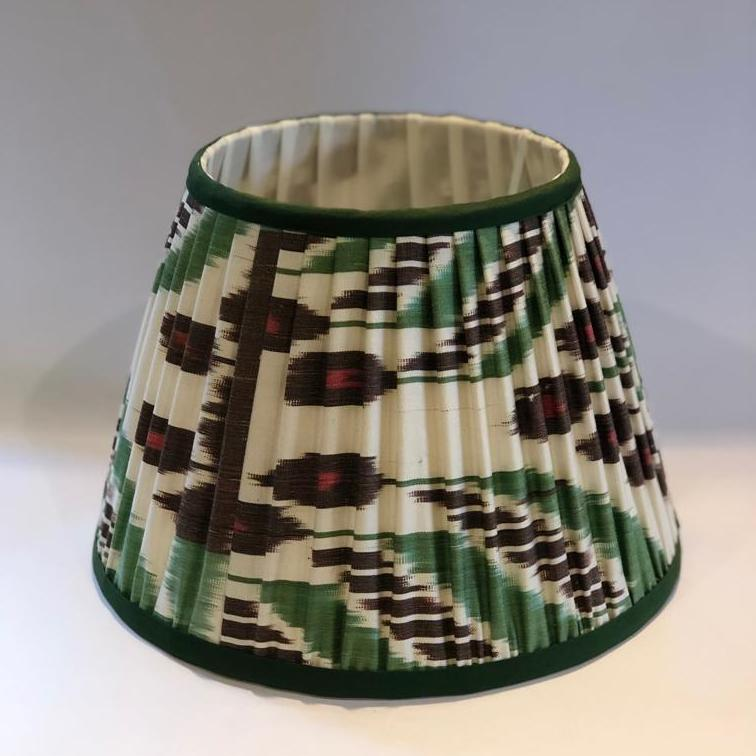Uzbekistan Silk Lampshade - Green