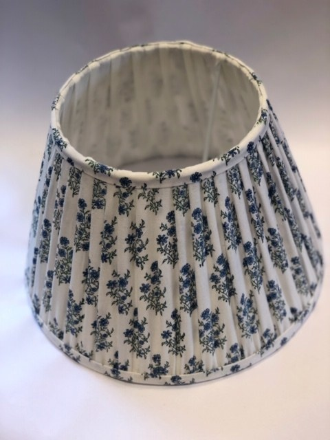 Mayo Flowers Green & Blue Lampshade - Plain Trim