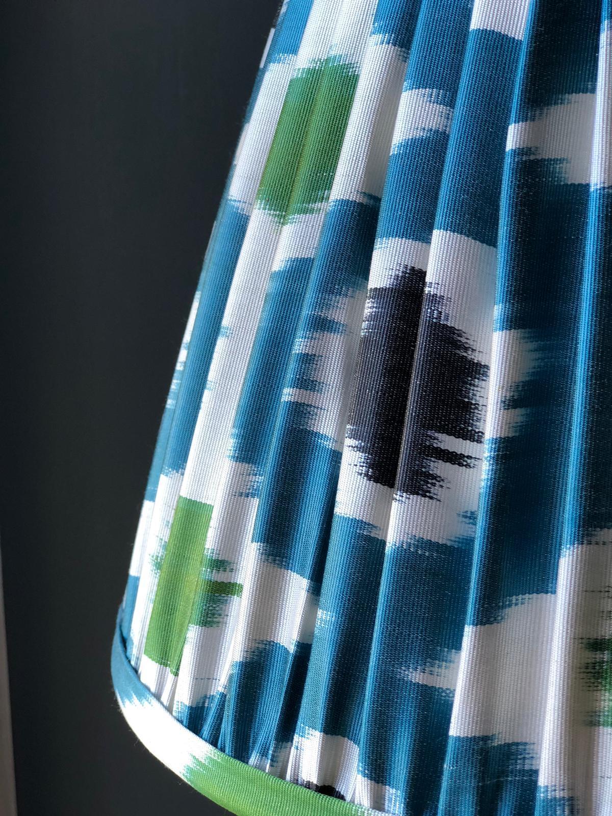 Blue & Green Silk Ikat