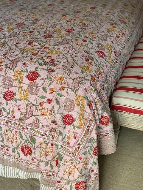Rose Pink Bedspread - King Size