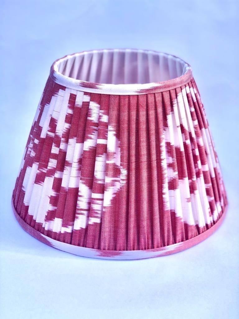 Soft Raspberry Silk Ikat