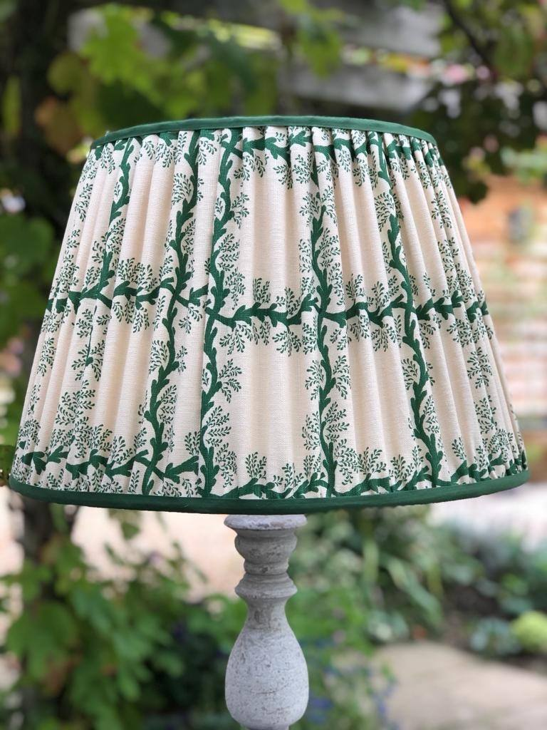 Espalier Square in Emerald Lampshade
