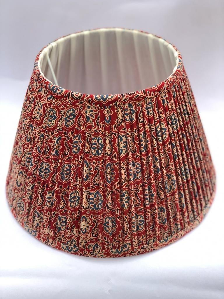 Red & Navy Mosaic Lampshade
