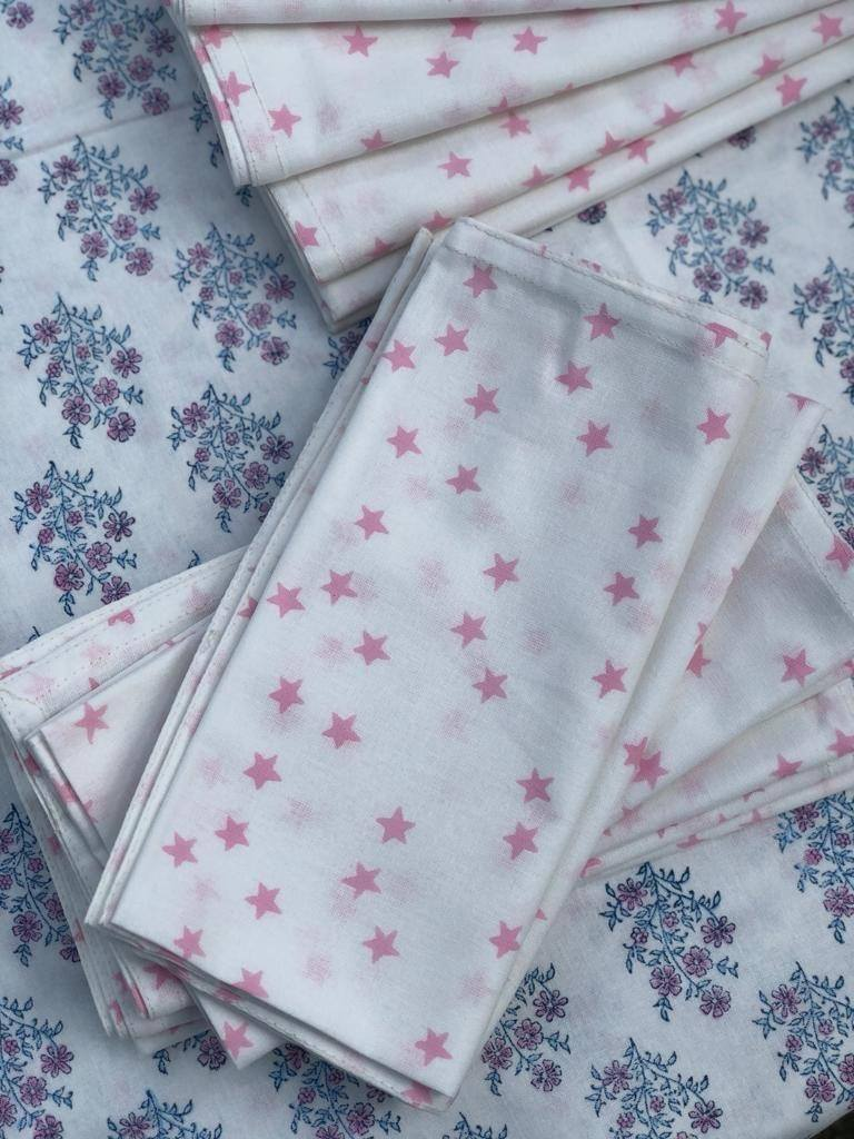 Rose Star Napkins - set of 5