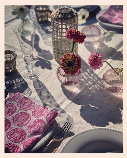 Rose Star Tablecloth