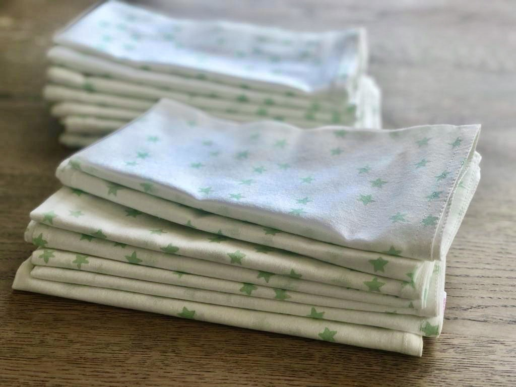 Sage Star Napkins - Set of 5