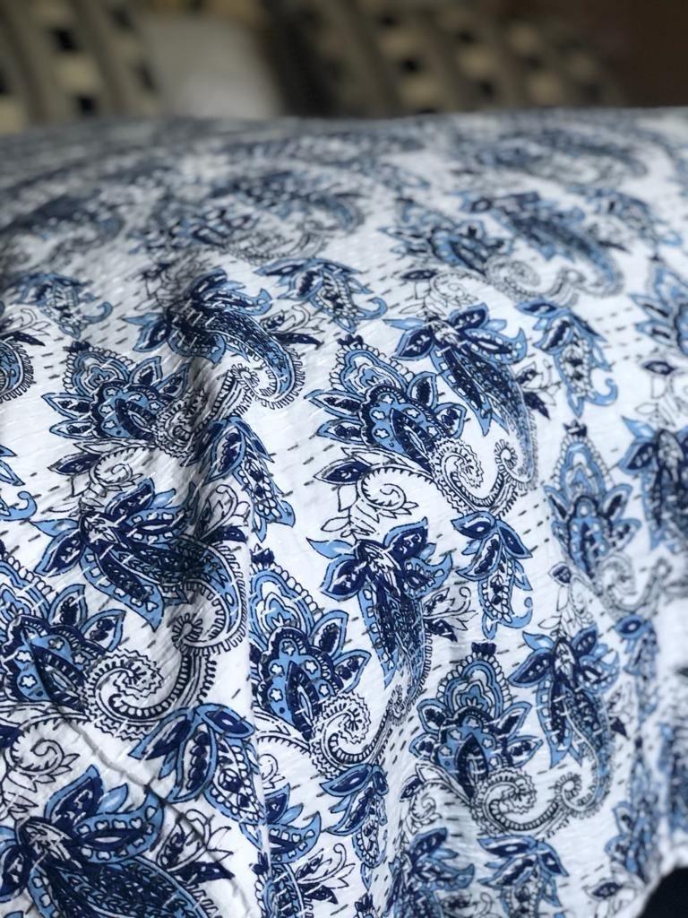 Sky & Navy Bedspread - King Size