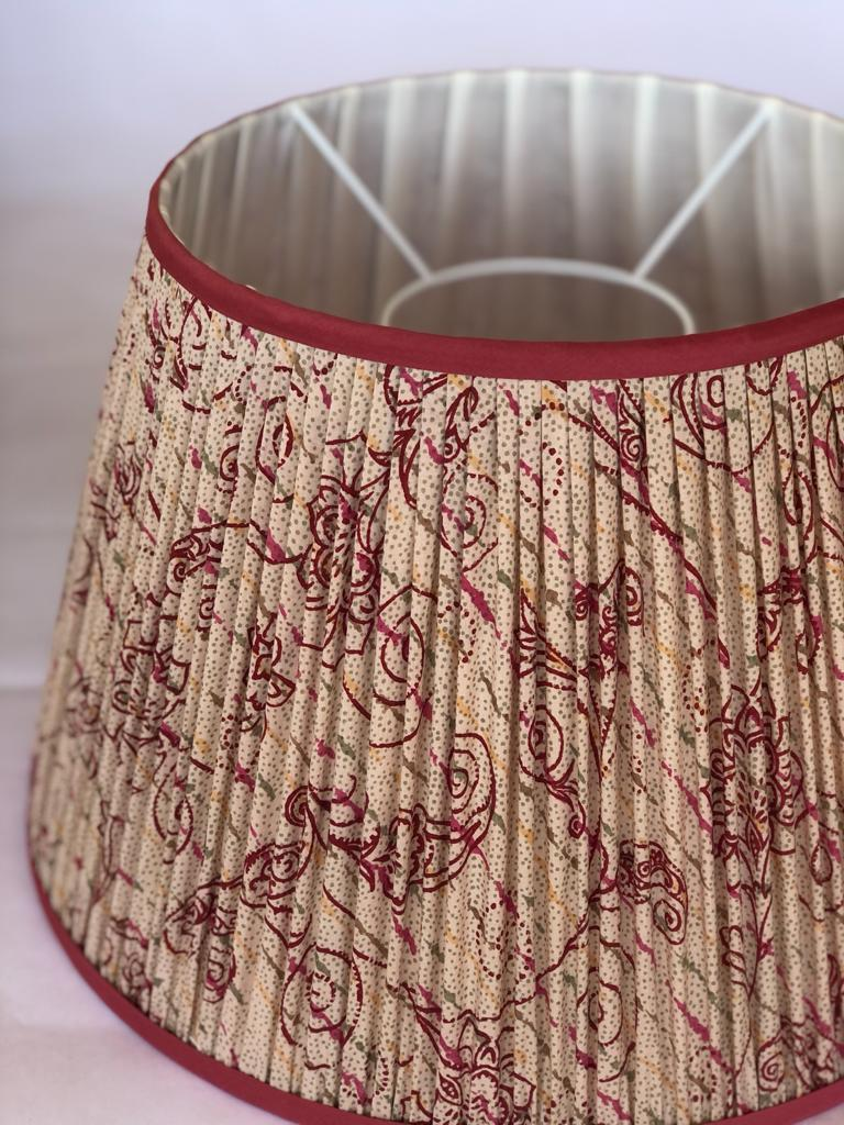 Claret & Sage on Sand Silk Sari