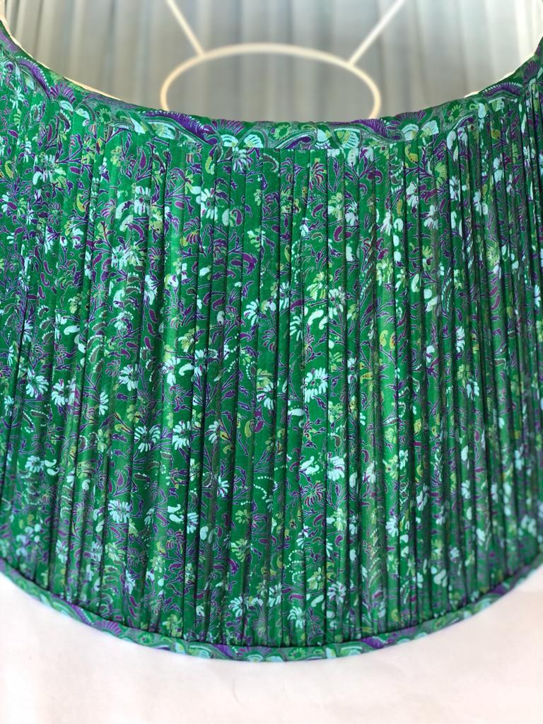 Emerald & Violet Silk Sari