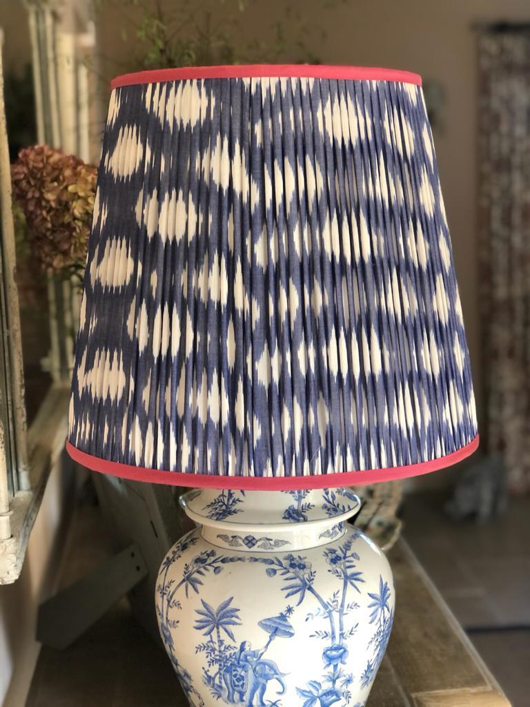 Blue & White Cotton Ikat