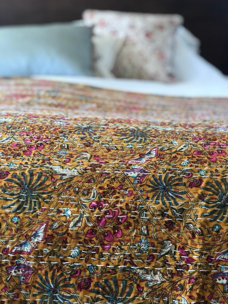 SOLD OUT Saffron Butterfly Bedspread - King Size