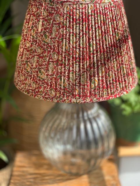 Crimson Paisley Cotton Lampshade