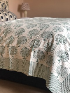 Green Tree Bedspread