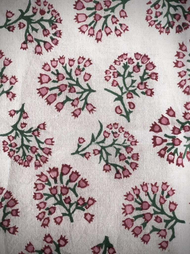 Rose & Teal Periwinkle Tablecloth