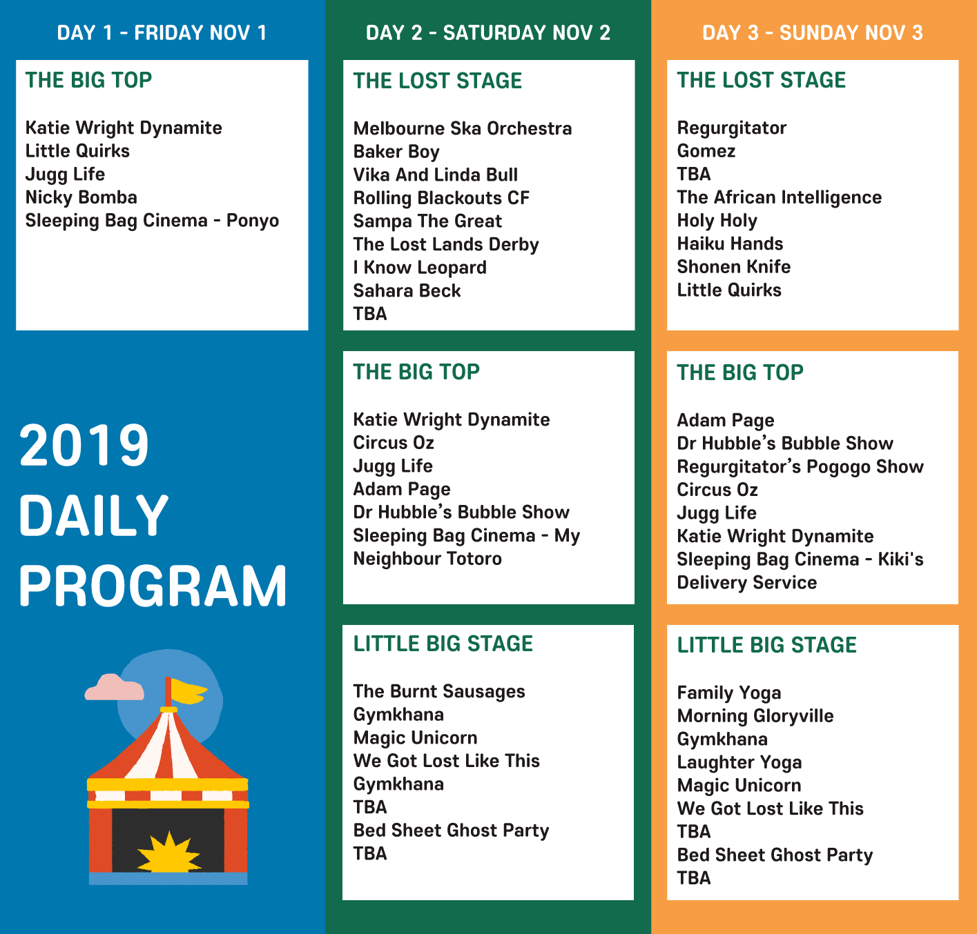 The Lost Lands 2019 Daily Program