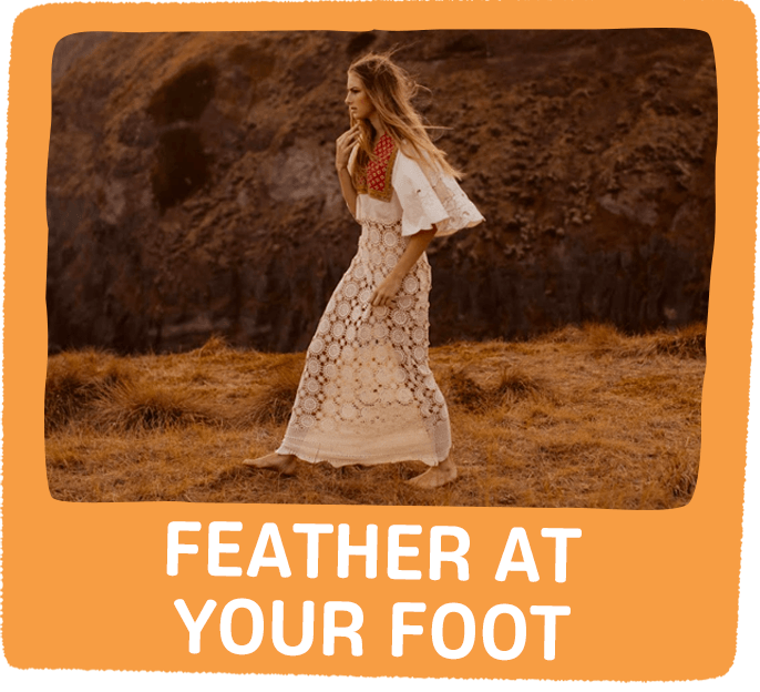 feather at your foot