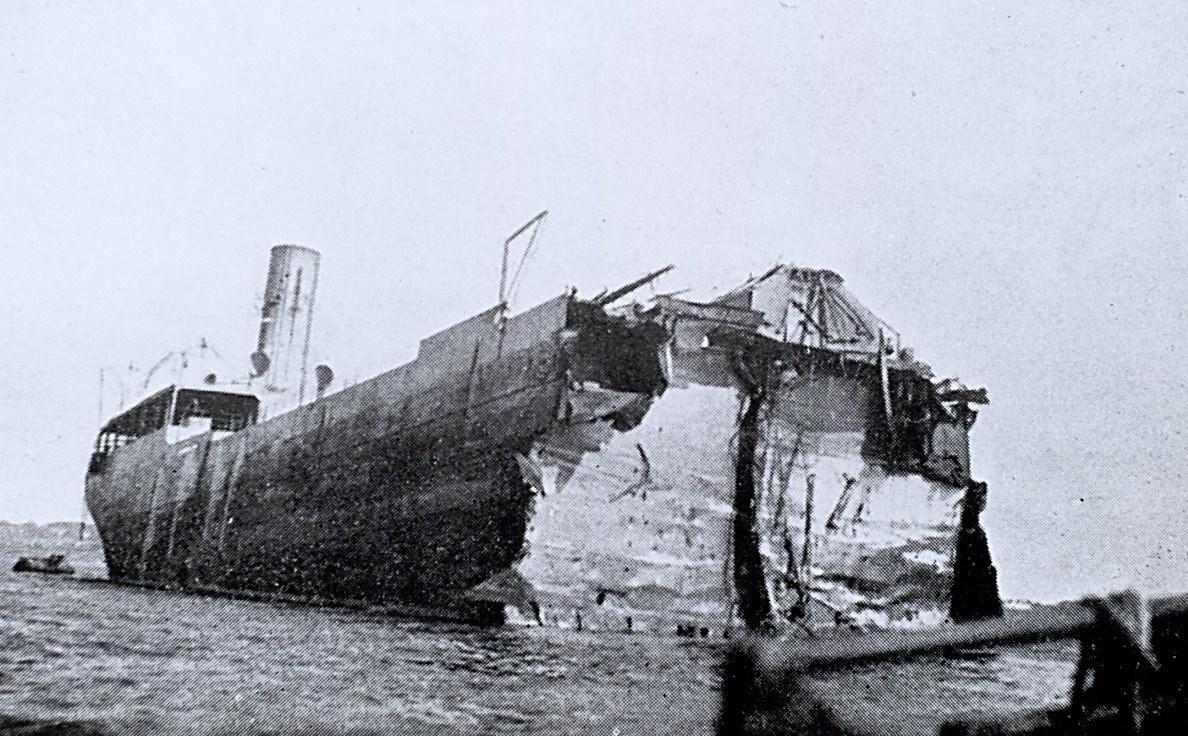 British Inventor stern being salvaged