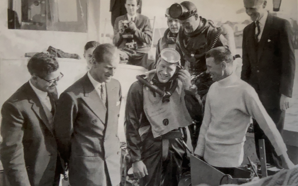 Prince Philip and BSAC Divers in teh 1960's