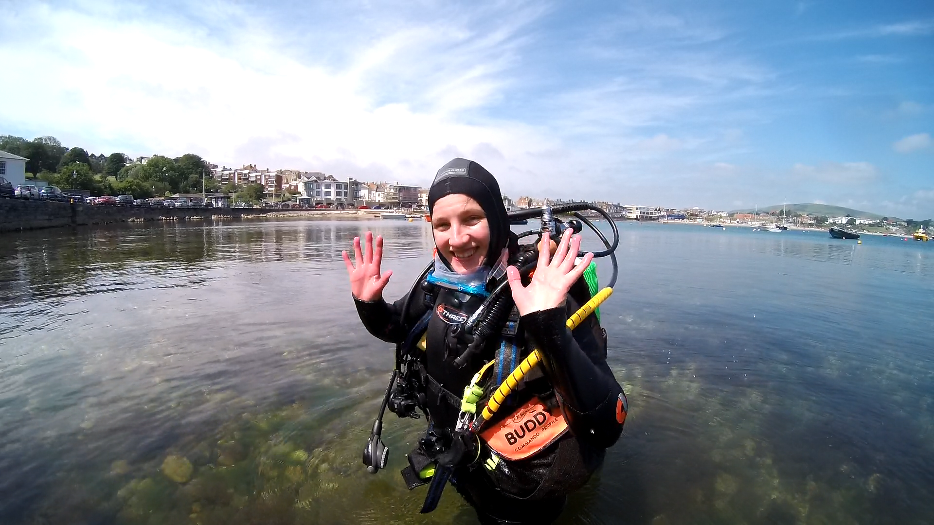 Muriel's first Open Water dive. image