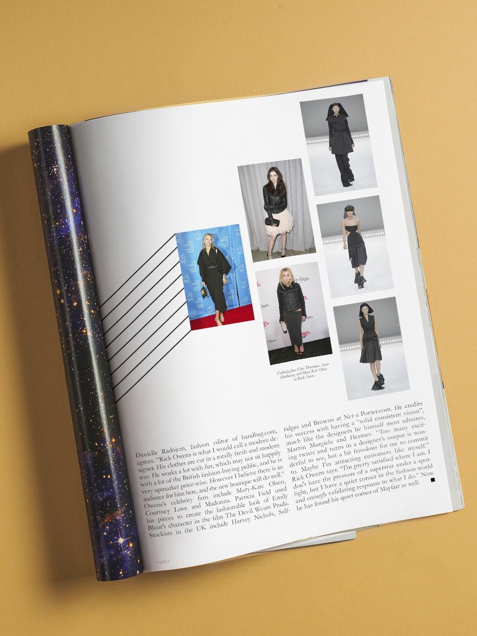 Open fashion magazine