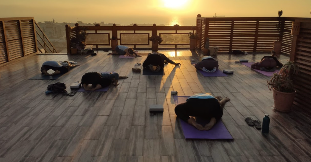 sunsetyoga yogamorocco beautifulroofterrace