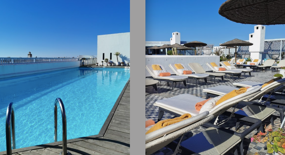 heure bleue rooftop pool essaouira morocco