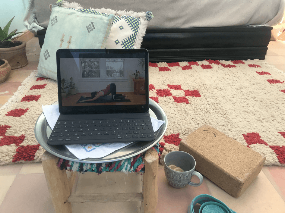 Yoga at home, taking it online image