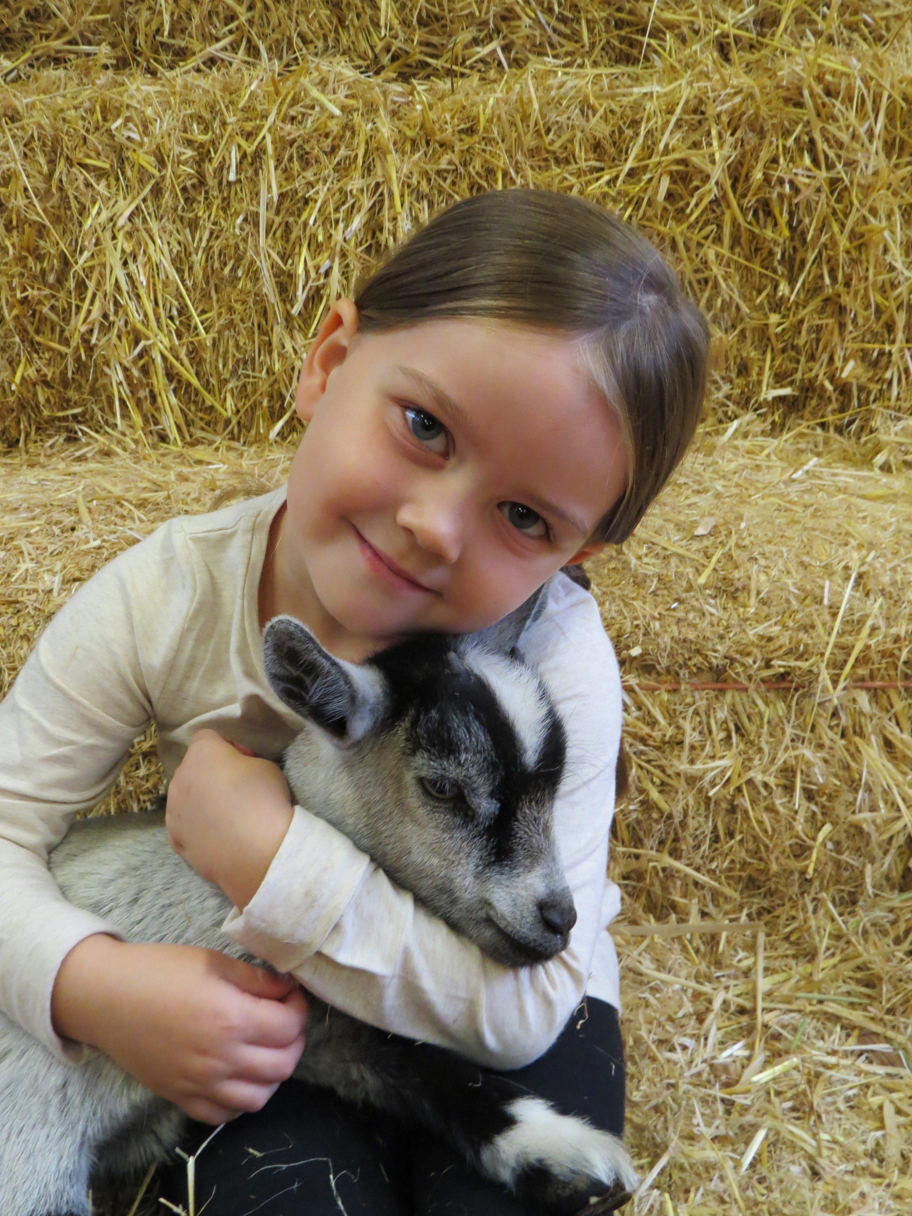 Girl & Goat.JPG