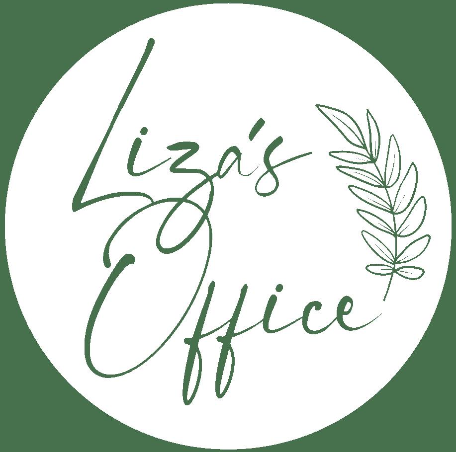 Lizas Office logo in white