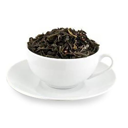 Loose tea in a cup