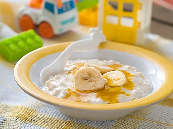 Banana-nut porridge