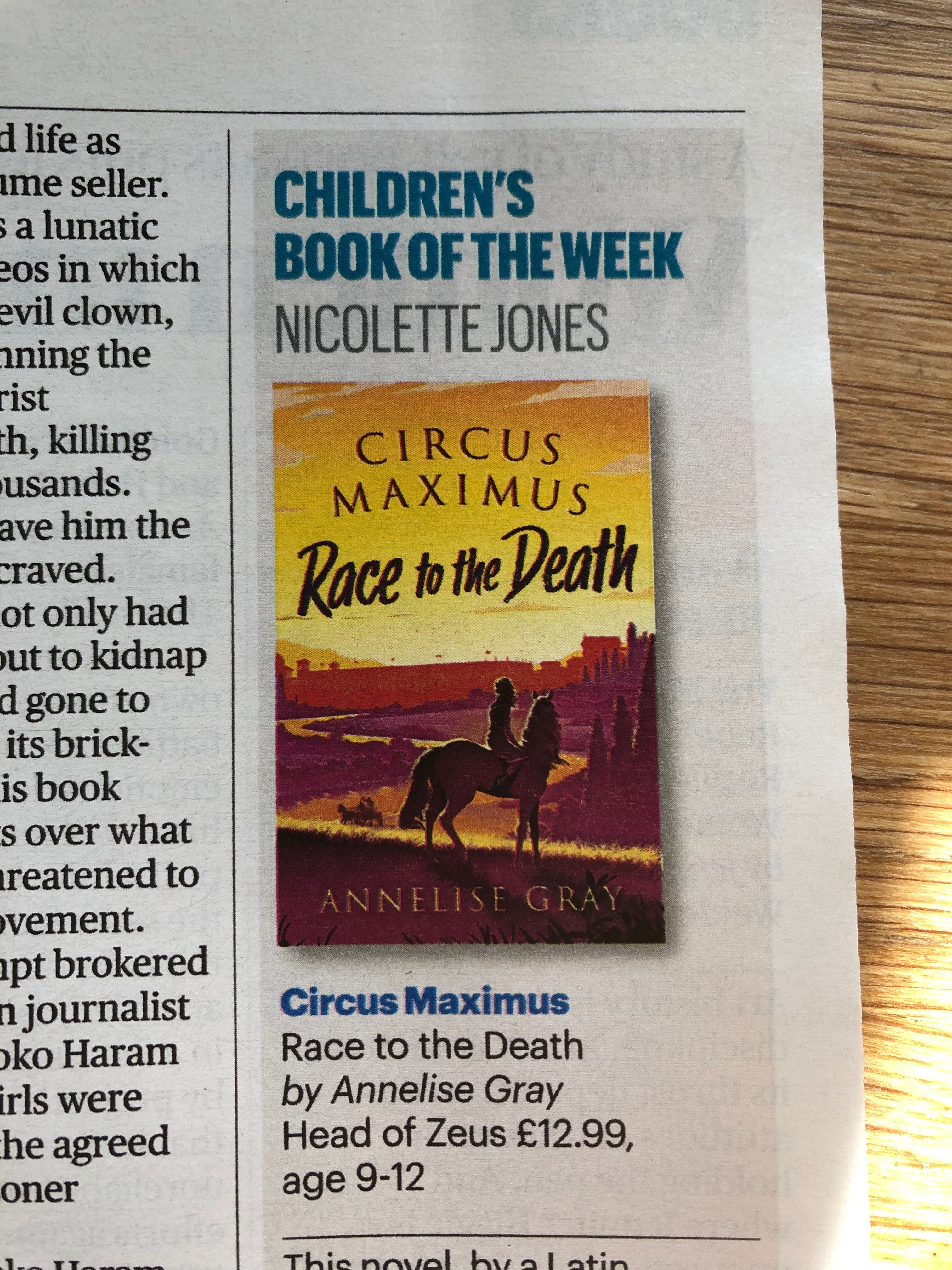 Sunday Times Children's Book of the Week! image