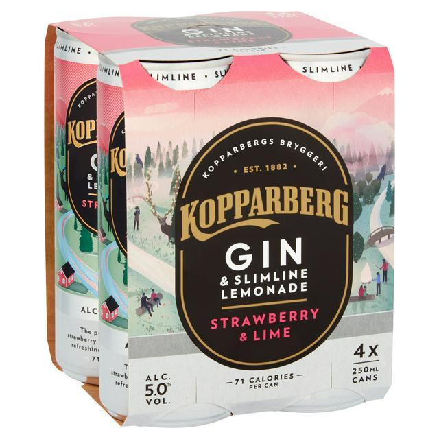 Kopparberg Gin Lemonade Strawberry & Lime 250 ml 1 x 12 case